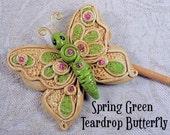 Spring Green Teardrop Butterfly Plant Poke