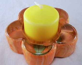 Glass candle holder - Summer Glow Candle Holder