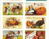 Thanksgiving 2 Collage Sheet Vintage Images AGOC