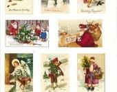 Let It Snow Collage Sheet Vintage Images