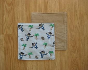 Pirate burp cloths