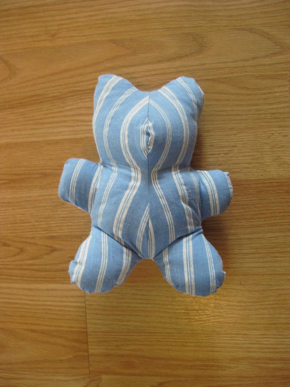 Baby's first teddy - blue striped