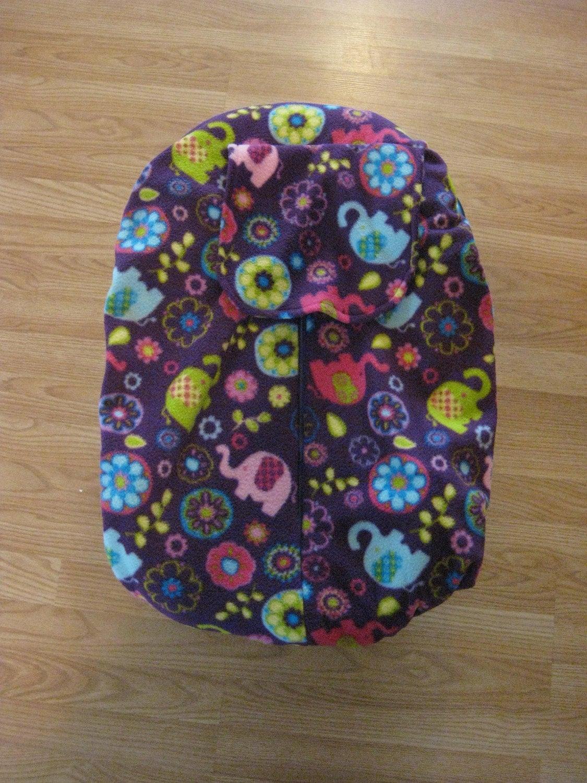 psychedelic elephants fleece infant car seat cover. Black Bedroom Furniture Sets. Home Design Ideas