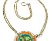 Kan Disc Delight 1 - Lampwork Glass Necklace
