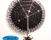 Pasties - Black and Silver Spooky Spiderweb With Spider
