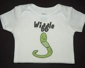Wiggle Worm Onesie or Toddler Tshirt