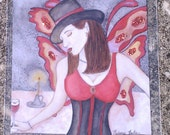 ACEO Crimson Wings LE 6of 9