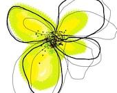 Yellow Petals series - set of 4 art prints