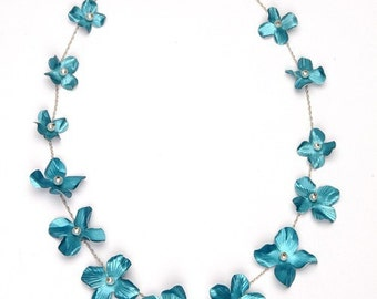 Blossom Necklace (Electric Blue)
