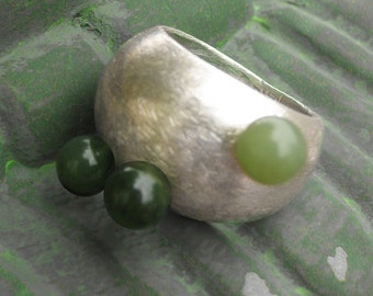 Dome Ring with Jade