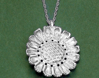 Sunflower Blossom Pendant-Medium