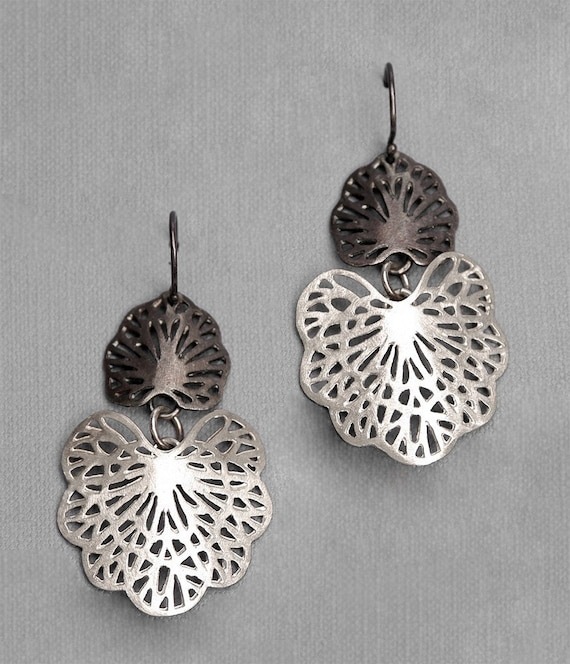 Double Seafan Earrings