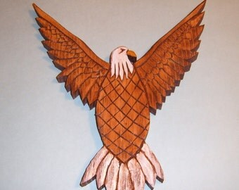 Eagle, Americana, Hand Carved Wood , Wall Plaque