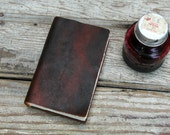 The Way of the Future No. 3 - reddish black / brown leather journal
