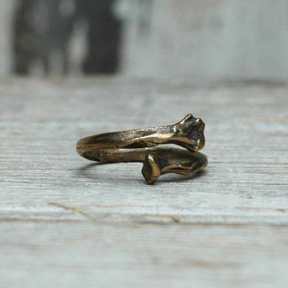 Bone Ring:  white bronze, adjustable. LAST ONE
