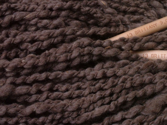 Exclusive Genopalette American farm rare natural colored undyed slate brown wrapped Merino yarn knitting felting 5 oz skein