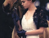 Black Corded Lace Shrug As seen in Oregon Bride Made to Order