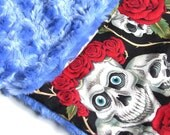 SALE - LAST ONE  Rockin Baby Blues - Carseat \/ Stroller Blanket