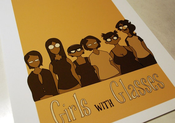 Girls with Glasses Print