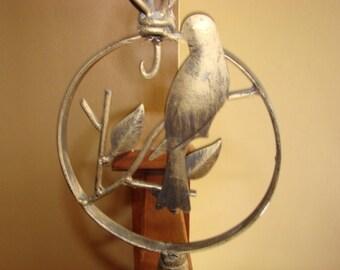 Pillar Candlestick with Wonderul Bird Collectible Candlesticks
