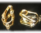 Gold Plated Pierced Look Clip-On Earring converters convert hook earwire to clipon