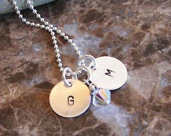Tiny Initials Necklace