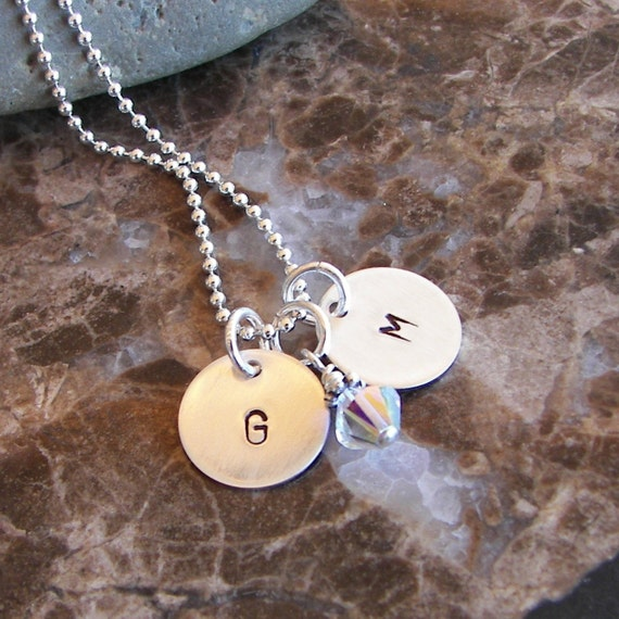 Tiny Initials Necklace