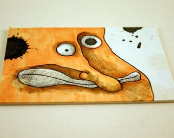 Orange Man, Original ACEO by Aaron Butcher