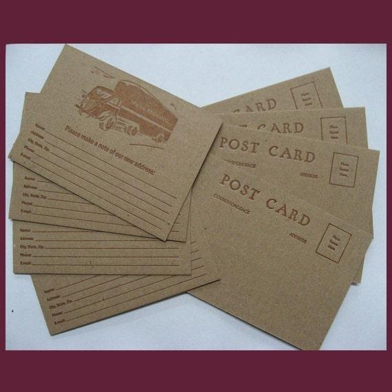Moving / Change of Address Postcards - letterpress printed
