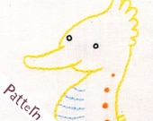 S Seahorse INSTANT DOWNLOAD PDF embroidery pattern