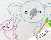 K Koala INSTANT DOWNLOAD PDF embroidery pattern