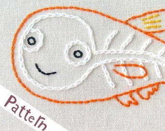 X Xray Fish INSTANT DOWNLOAD PDF embroidery pattern
