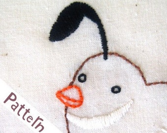 Q Quail INSTANT DOWNLOAD PDF embroidery pattern