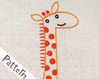 G Giraffe INSTANT DOWNLOAD PDF embroidery pattern