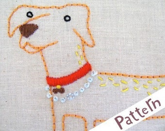 D Dog INSTANT DOWNLOAD PDF embroidery pattern