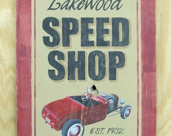 Speed Shop sign, hot rod, ford, rat rod
