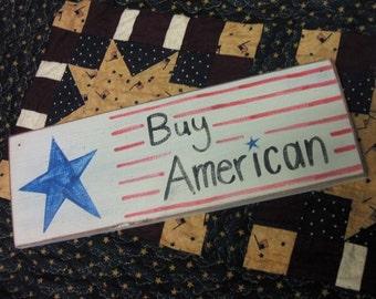 Buy American Wood Sign american pride home decor