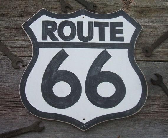 Route 66 sign hot rod rat rod dad fathers day