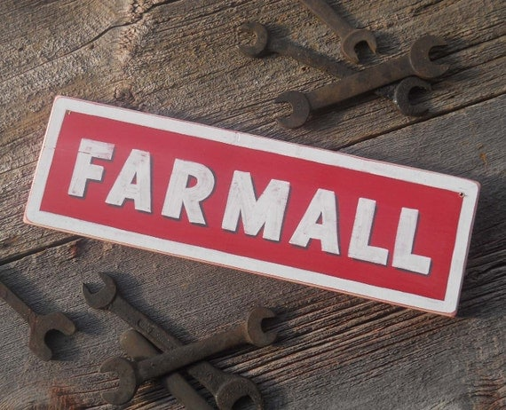 Farmall Tractor Sign antique vintage looking