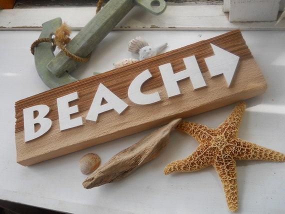 Right Beach Sign Sandblasted Western Cedar home decor beach decor