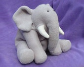Elephant Plush Toy Sewing Pattern PDF INSTANT DOWNLOAD