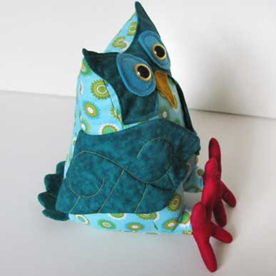 Owl plush toy sewing pattern PDF INSTANT DOWNLOAD
