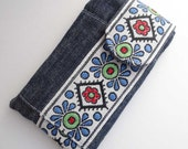 All the Trimmings iPod Touch sleeve in denim with vintage trim