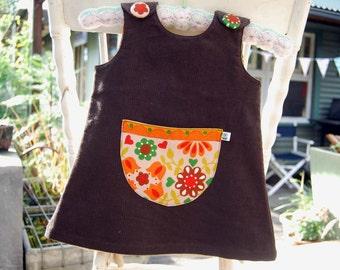 little dress - brown. size 0