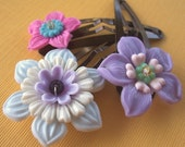 Cotton Candy - Set of 3 Hairclips