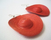 Sombrero earrings 2 - red