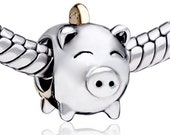 European Beads Authentic Pugster Piggy Bank charm
