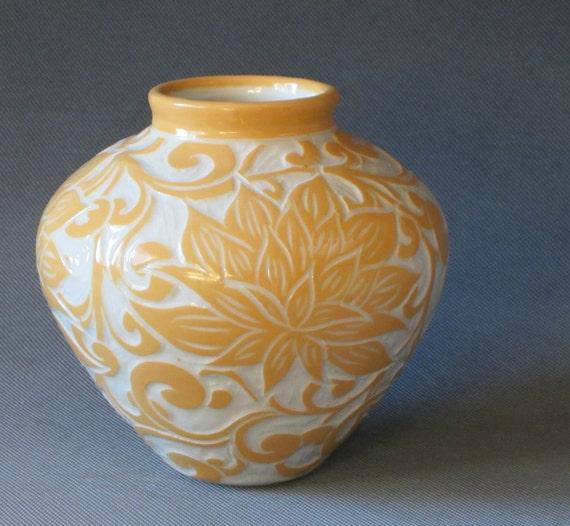 Sale... Gold Lotus... Medium Vase... In Stock