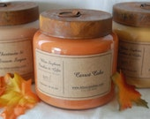 TWO  - Bliss Premium Soy 16 oz Jar Candles with Primitive Rustic Lids - 34 DOLLARS YOU CHOOSE