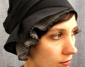 cloche - black linen